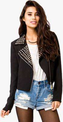 FOREVER 21 Studded Moto Jacket / Wantering