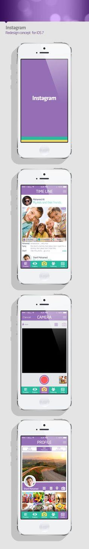 Instagram concept for iOS 7