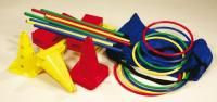 Complete Motor Skills Set  Contents:  30 clips,  3 red cones,  3 yellow cones,  4 bricks in yellow and red,  8 poles,  4 small hoops and  4 medium hoops  List Price: R2125.99 Motor Skills, Bricks, Contents, Homeschool, Medium, Yellow, Red, Brick, Homeschooling