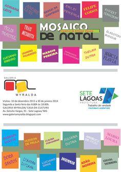 Convite para a exposição na Galeria Myralda em Sete Lagoas.