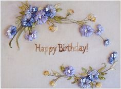 ribbon embroidery, short tutorials, beginners guide for silk ribbon embroidery, patterns and pictures