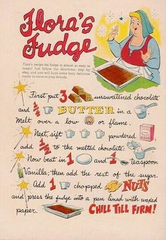 Flora's Fudge – ✨Vintage Kitschen✨ Bakers Chocolate, Chocolate Cookies, Melting Chocolate, Pink And Blue Dress, Unsweetened Chocolate, Melt In Your Mouth, Fairy Godmother, Wax Paper, Disney Food