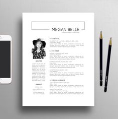 Modern Resume Template, Page Resume + Creative Cover Letter Template, US Letter & Profession If you like this design. Check others on my CV template board :) Thanks for sharing! Cover Letter Template, Cv Cover Letter, Letter Templates, Storyboard Template, 2 Letter, Modern Resume Template, Creative Resume Templates, Resume Pdf, Design Templates