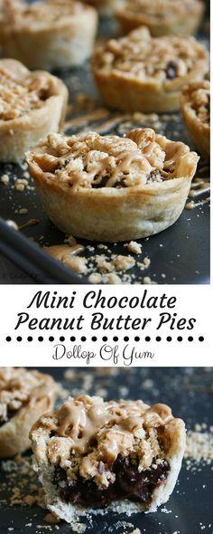 Mini Chocolate Peanut Butter Pies