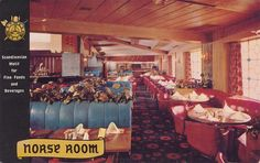 Norse Room at the Hotel Leamington - Minneapolis, Minnesota Postcard