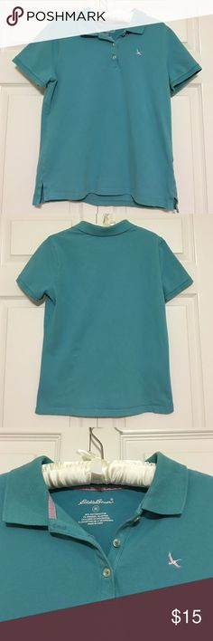 POLO EUC, sea foam blue polo No snags or stains on the fabric 96% cotton & 4% spandex Eddie Bauer Tops Tees - Short Sleeve