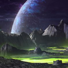 Space environments on Behance