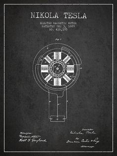 1889 Nikola Tesla Patent Print. #patentprints#patentart#patentartprints #agedpixel #tesla