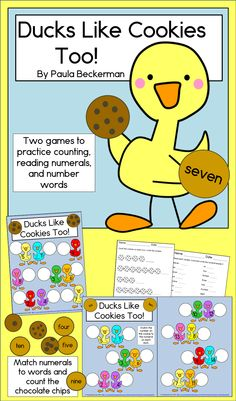 Do you want your preschool & kindergarten students counting & reading number words? These fun games motivated my class! TpT$