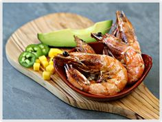 Pan Seared Prawns with Star Thistle Honey tropical Salsa- We use ...