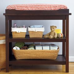 Baby Changers: Baby Espresso Durable Changing Table - Espresso Changer