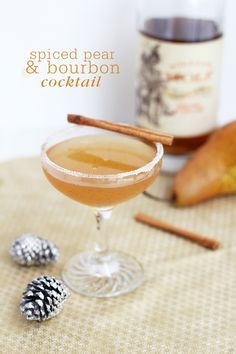 Spiced Pear & Bourbon Cocktail - Freutcake (http://www.freutcake.com/in-the-kitchen/drinks-anyone/spiced-pear-bourbon-cocktail/)