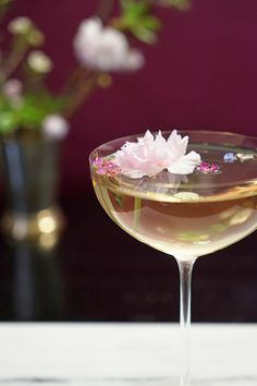 New Recipe on the Blog: Luxardo Cherry Blossom Martini made with Vodka, Vermouth Blanc, and Luxardo Maraschino Liqueur.