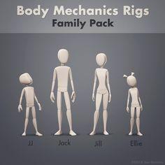 Body Mechanics Rigs - Family Pack