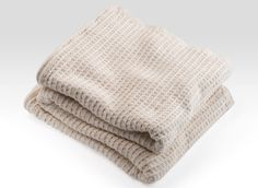 Natural Cotton Rib Blanket by Brahms Mount, also available in White.