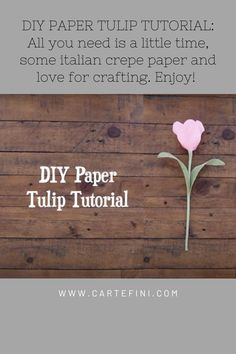 Learn how to make a tulip from crepe paper. This easy DIY video will show you every step along the way. Crepe Paper Flowers Tutorial, Along The Way, Diy Videos, All You Need Is, Diy Paper, Fabric Flowers, Diy Tutorial, Tulips, Easy Diy