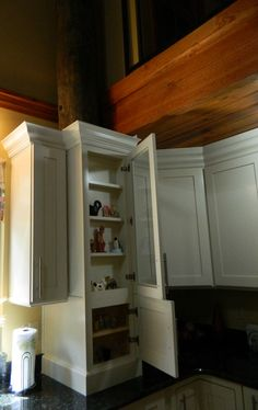 Cabinets, glass display, hardware, and counter tops - Arnold http://www.thekitchensofsk.com/arnold.html