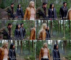 """""""In case, you haven't noticed, I'm about to storm an ice cream truck."""" Regina, Robin and Emma - 4 * 6 """" Family Business. """" #OutlawQueen"""