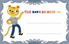 Free Printable Bookplate for Children // Helen Dardik
