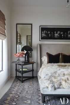 Have weekend guests coming into town? Find inspiration in this guest bedroom at the California home of Kourtney Kardashian. | archdigest.com