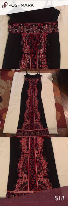 Long dress Woman's long polyester spandex dress. Spaghetti strap top. Dark chocolate brown londan style Dresses