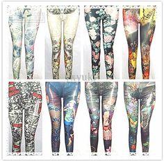 Colorful Leggings, Sexy Women, Fashion, Moda, Fashion Styles, Fashion Illustrations