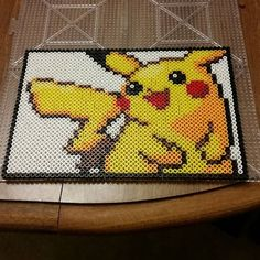 Pikachu perler beads by Three Point One Four Creations