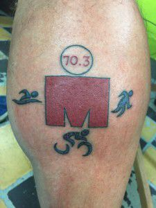 I like this for a half ironman tattoo. The Mdot w/out misrepresenting your accomplishment.