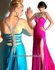 Party Kleid Abendkleid in Pink Blau von www.online-mode.biz