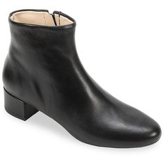 Summit By White Mountain Women's Jordie SI0336 Leather Boots ($199) ❤ liked on Polyvore featuring shoes, boots, black, leather boots, block heel boots, black side zip boots, black boots and block heel shoes