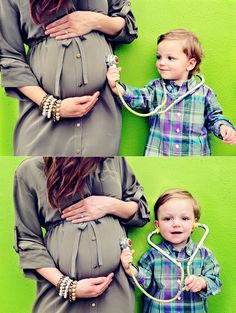I really love this idea for a picture of a child about to become a big sister or brother! This is adorable! :)