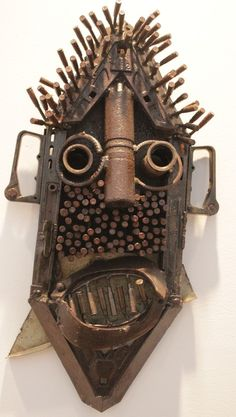 Another mask made from old weapons...