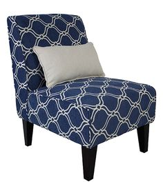 Take a look at this Langford Armless Accent Chair & Pillow today!