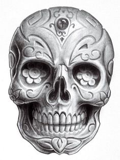 skull dia de los muertos - Pesquisa Google