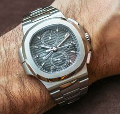 """Patek Philippe 5990/1A (5990) Nautilus Steel Watch Hands-On - by James Stacey - """"I scream, you scream, we all scream for steel Pateks! Even a casual watch enthusiast will likely recognize the importance of a Baselworld where Patek Philippe launched two new complicated steel watches..."""""""
