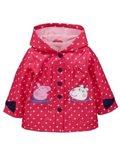 Raincoats For Women Christmas Gifts Baby & Toddler Clothing, Toddler Outfits, Toddler Girl, Baby Kids, Kids Outfits, Girl Clothing, Peppa Pig Coat, Peppa Pig Outfit, Pink Raincoat