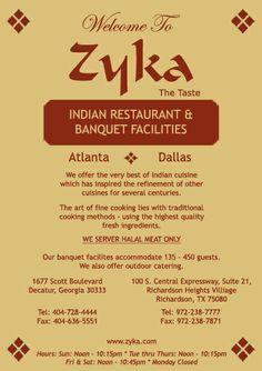 Zyka Indian Restaurant Decatur