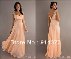 2013 HOT SELL New Arrival!Champagne Chiffon A line Ruched Beading Sash Floor length  V back Zipper Sleeveless Prom Dresses $55.90