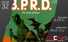 New podcast! We talk BPRD, the satellite Hellboy universe book from Dark Horse. We also cover the up-and-coming webcomic, Moth City by Tim Gibson!