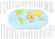 World map country names and capitals in alphabetical order map robinson projection of world country name capitals all of world gumiabroncs Images