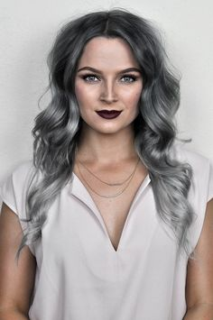 Check out this tutorial to learn how to get that perfect silver ombre hair at home with oVertone! It's a DIY ombre made easy. LOVE this hair color! Silver Ombre Hair, Grey Ombre Hair, Dyed Hair Ombre, Best Ombre Hair, Dye Hair, Black Hair, Ombre Hair At Home, Pelo Color Plata, Overtone Hair