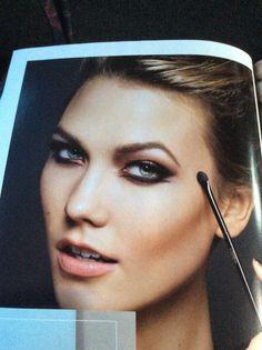 #InspiringLookoftheDay #scrapbooking time! Zoom in on her #eyes. The #makeup is #artistry. @LOrealUSA @karliekloss