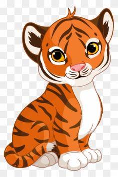 Tiger Cartoon Drawing, Zebra Cartoon, Baby Cartoon, Cartoon Kids, Cartoon Drawings, Cute Cartoon, Cool Drawings For Kids, Baby Animal Drawings, Baby Tigers