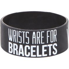 Sleeping With Sirens Wrists Rubber Bracelet | Hot Topic ($20) ❤ liked on Polyvore featuring jewelry, bracelets, accessories, rubber bracelets, rubber jewelry and rubber bangles