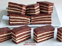Bibimoni Receptjei: Vali szelet Macedonian Food, Cake Recipes, Dessert Recipes, Hungarian Recipes, Winter Food, Nutella, Sweet Treats, Deserts, Food And Drink