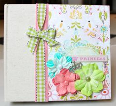 Scrapbook Mini Album Baby Girl Premade by ArtsyAlbums on Etsy, $38.00