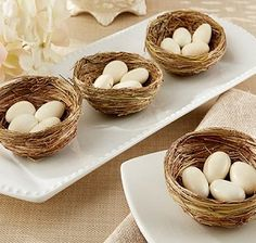 Mini Rustic Birds Nest Wedding Favors (Set of 12)