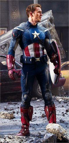 Chris Evans as Steve Rogers Aka Captain America (The Avengers)