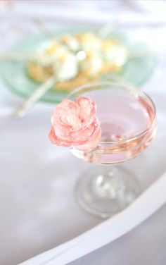pretty cocktails..love how the floral matches the color of the cocktail exactly...so cute for a vintage styled wedding in italy