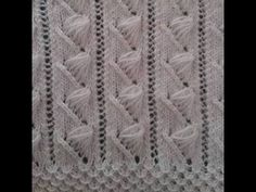 Bech Five - Knitting Examples Knitting Stiches, Knitting Videos, Crochet Stitches Patterns, Crochet Videos, Lace Knitting, Knitting Patterns Free, Free Pattern, Knitting Needles, Knitted Afghans